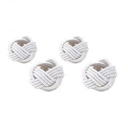 Jogo 4 anéis para guardanapo de tecido prateado Ally Bon Gourmet - 27173