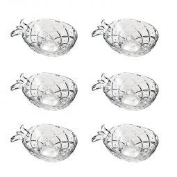 Jogo 6 bowls 12 cm para sobremesa de cristal transparente Pineapple Lyor - L7217