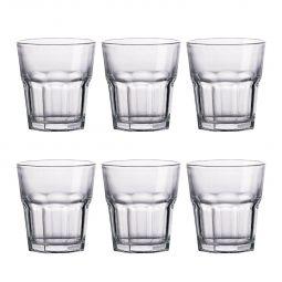 Jogo 6 copos 310ml baixo para água e suco de vidro transparente Allure Bon Gourmet - 25628