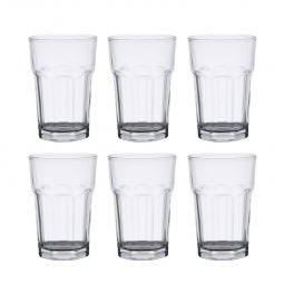 Jogo 6 copos 425ml alto para drink de vidro transparente Allure Bon Gourmet - 25630