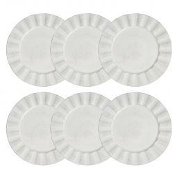 Jogo 6 peças Sousplat 33 cm de plástico preto e branco Cook Bon Gourmet - 30296
