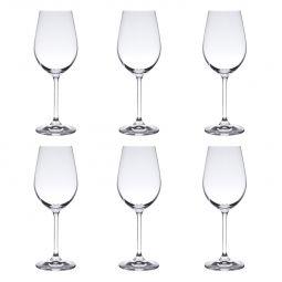 Jogo 6 taças 350ml para vinho branco de cristal ecológico transparente Gastro Bohemia - 5326