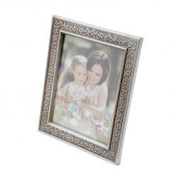 Porta-retrato 10 x 15 cm de plástico prateado Margarida Prestige - 25471
