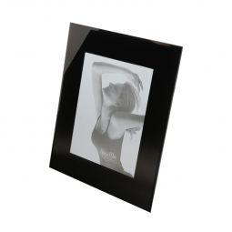 Porta-retrato 13 x 18 cm de vidro Preto Prestige - 9467