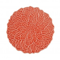 Prato de sobremesa 19cm de porcelana coral Daisy Wolff - 27745
