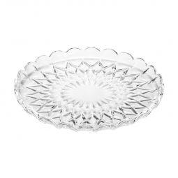 Prato 30 cm para bolo de cristal transparente Angélica Wolff - 25553