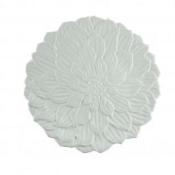 Prato raso 27cm de porcelana branca Daisy Wolff - 27737
