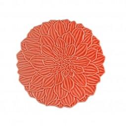 Prato raso 27cm de porcelana coral Daisy Wolff - 27737