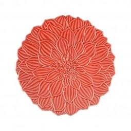 Sousplat  33 cm de porcelana coral Daisy Wolff - 27743