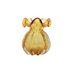 Vaso decorativo 17 cm de vidro âmbar Italy Lyor - L4140