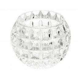 Vaso decorativo 13 cm de cristal transparente Bubble Wolff - 25425