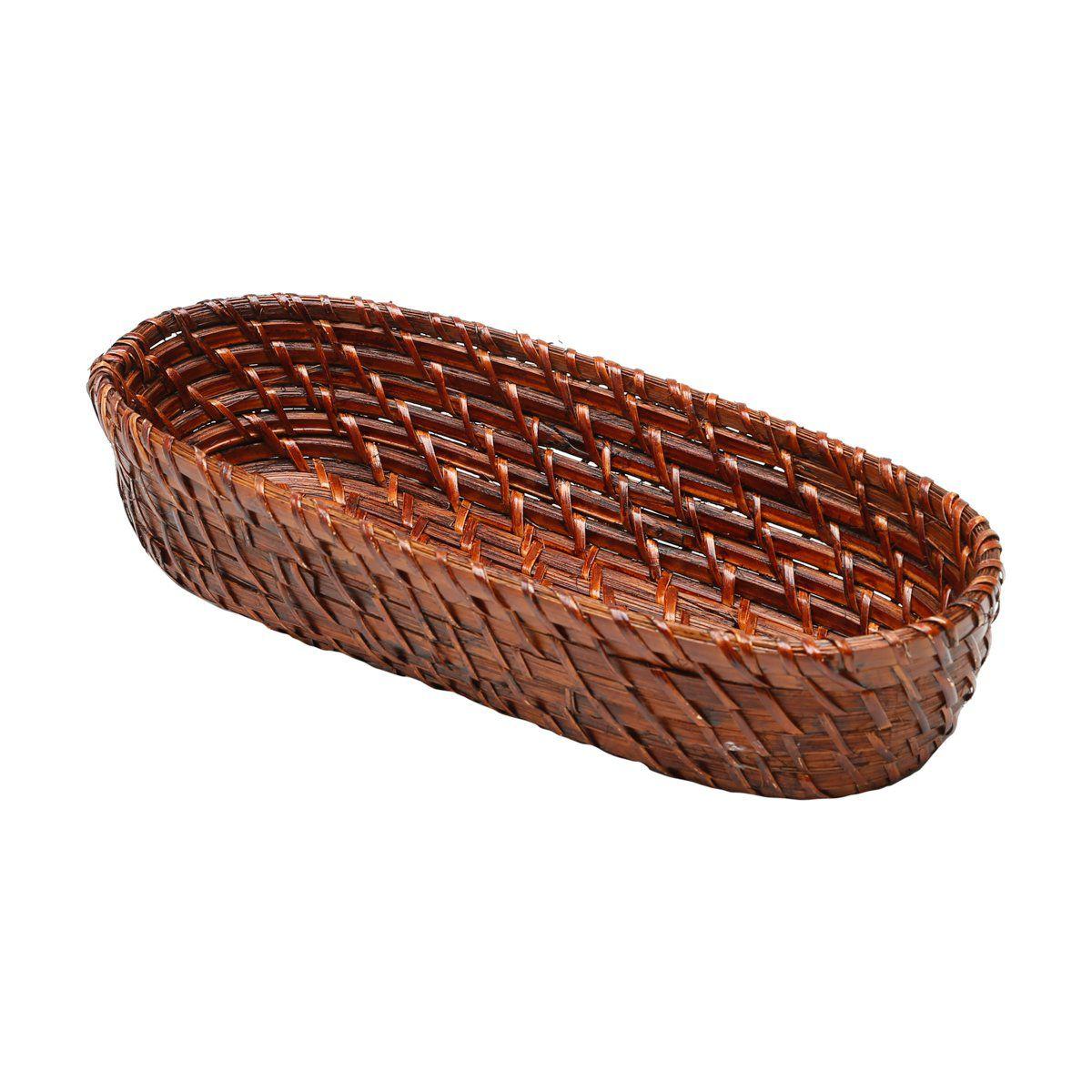 Bandeja 33 x 13 cm de rattan oval Bon Gourmet - 1415