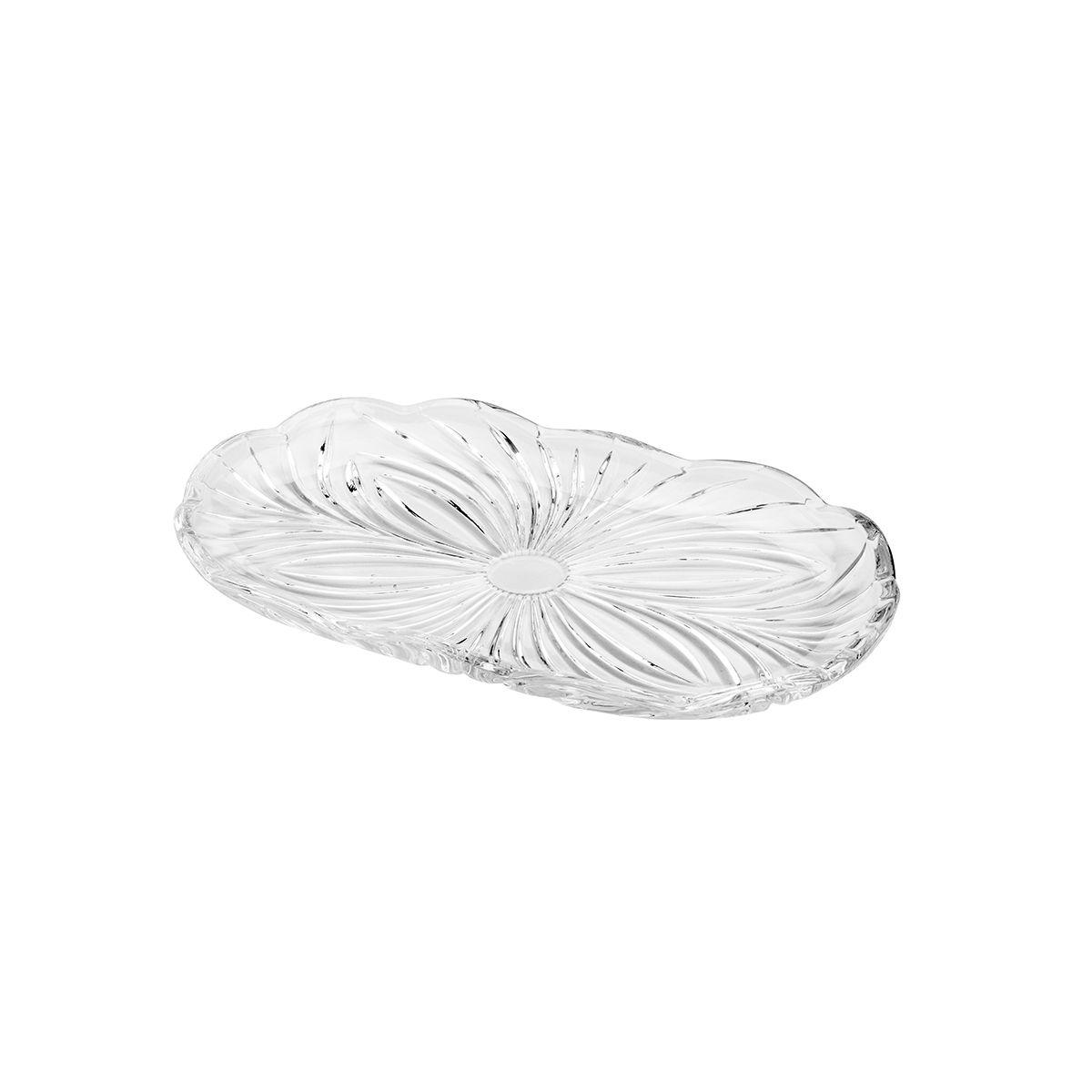 Bandeja oval 23,8 cm de cristal transparente Alberta Lyor - L7044