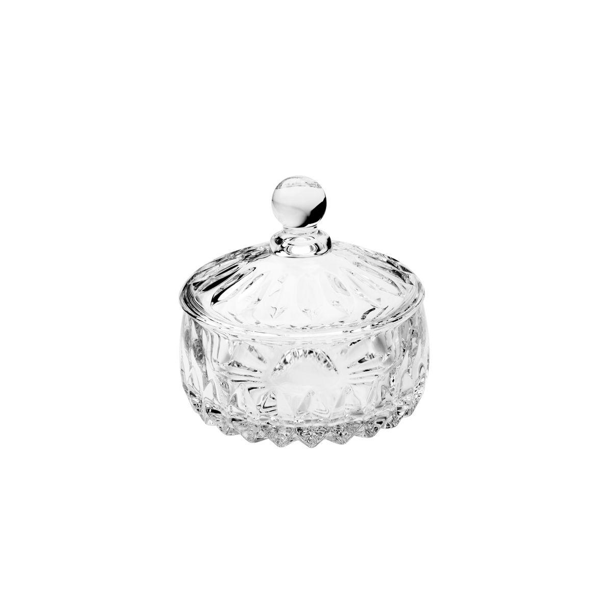Bomboniere 11 cm de cristal transparente com tampa Louise Wolff - 35195