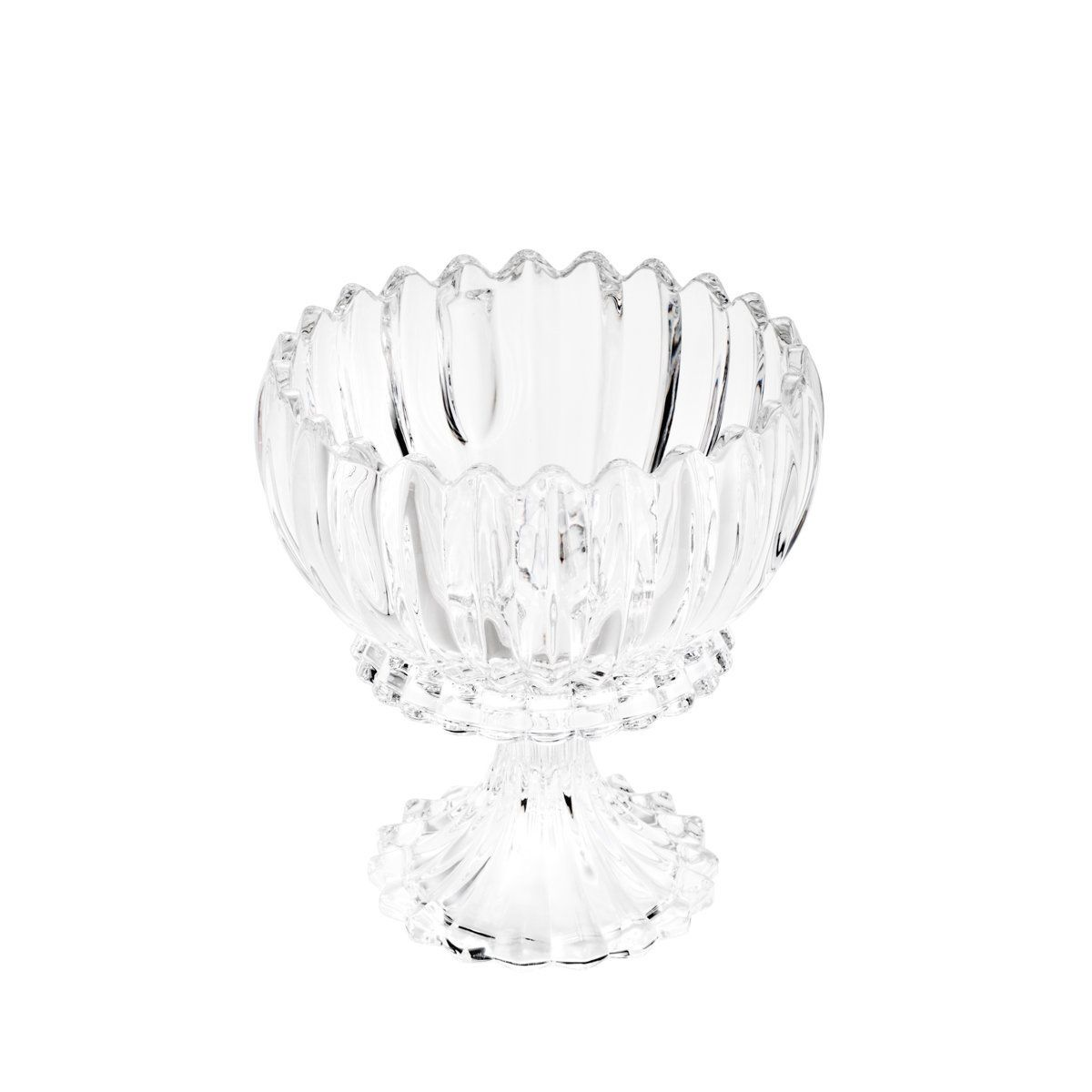 Bomboniere 24,5 cm de cristal transparente com tampa e pé Geneva Wolff - 25531