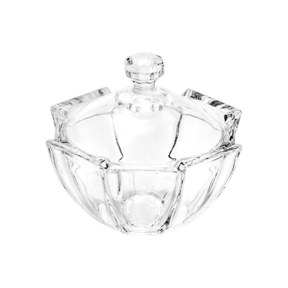 Bomboniere 10,5 cm de cristal transparente com tampa Stage Wolff - 25535