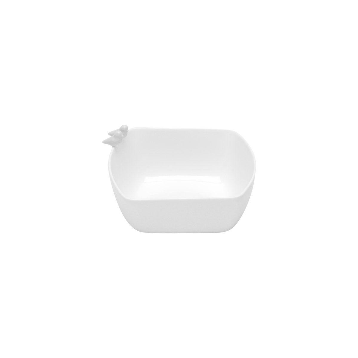 Bowl 16,5 x 15 cm de porcelana branca Birds Wolff - 17303