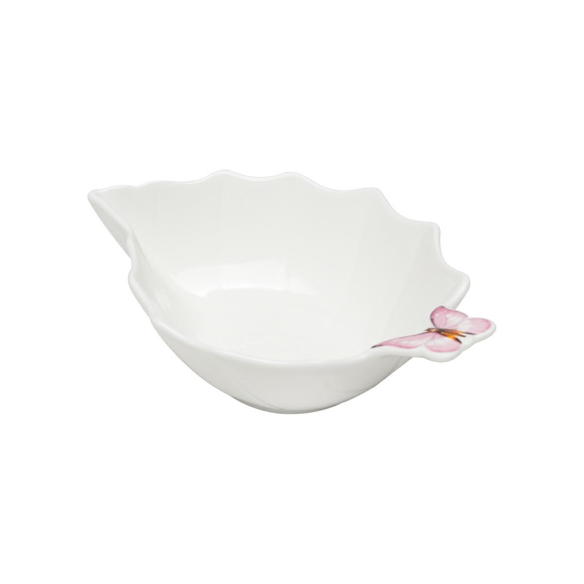 Bowl 17,5 cm de porcelana branca Borboletas Wolff - 1174