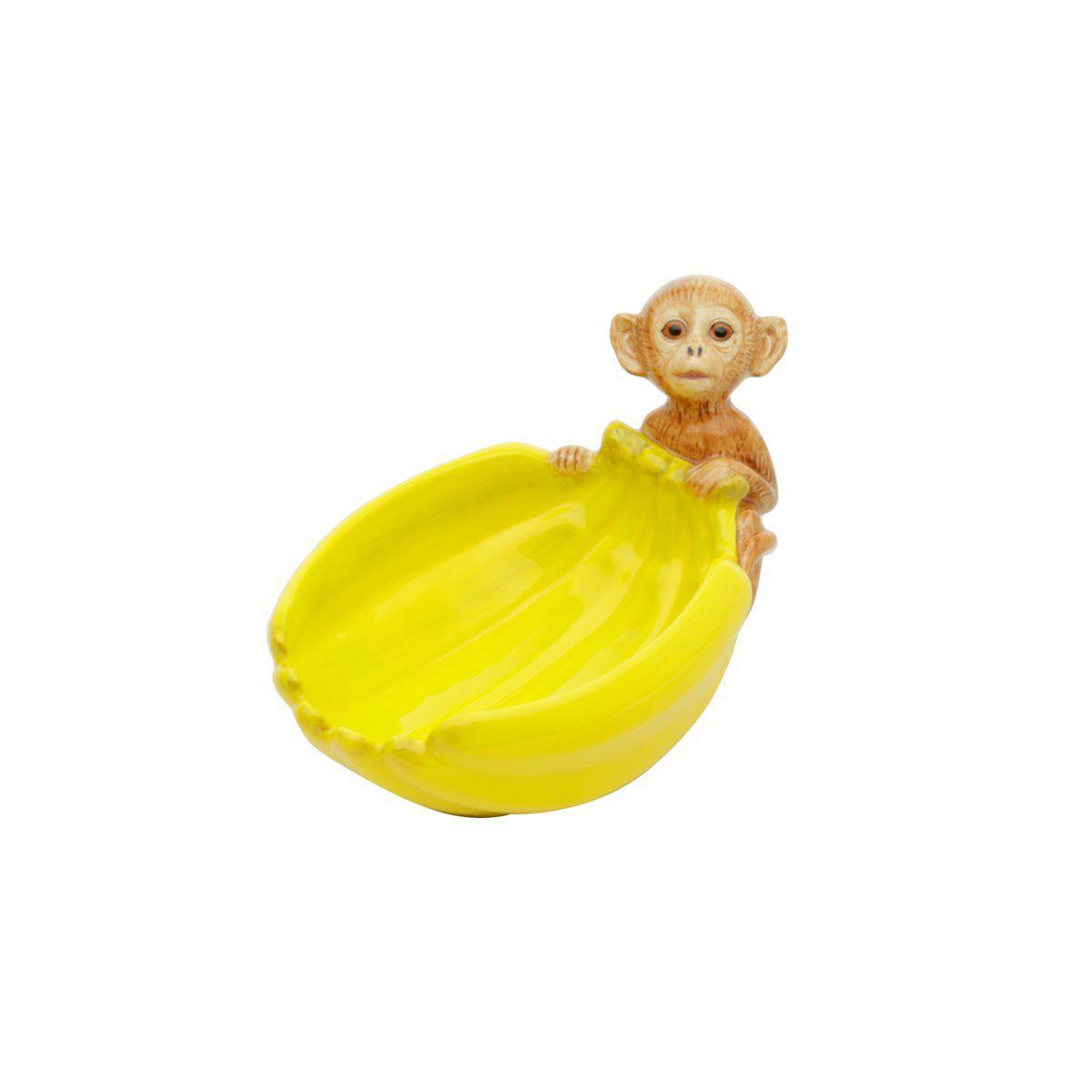Bowl 17 cm de cerâmica amarela Banana Rojemac - 26798
