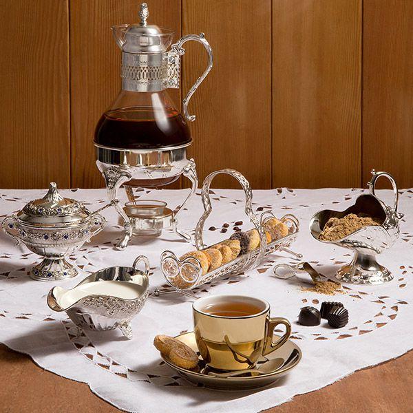 Cafeteira Samovar 1,6L de vidro e zamac com Réchaud Prestige - 9064