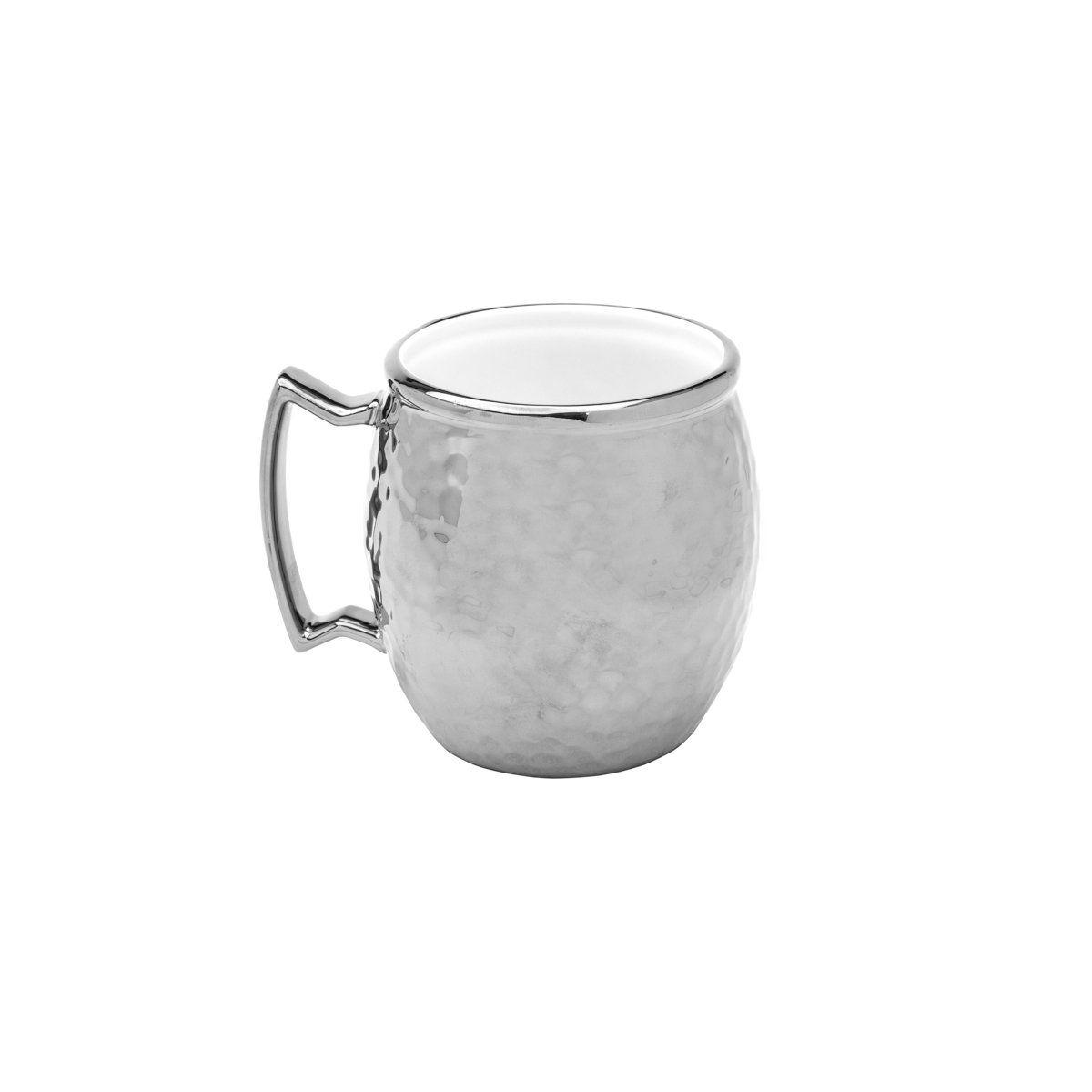 Caneca 430ml para Moscow Mule de porcelana prateado Vera Wolff- 17438