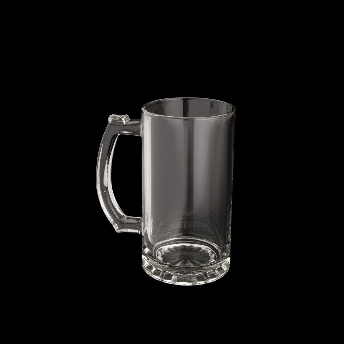 Caneca 450ml para chopp e cerveja de vidro transparente com alça Germany Lyor - L67041
