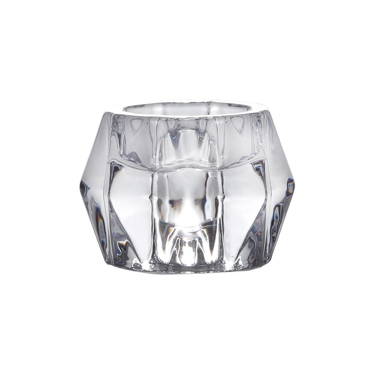 Porta-vela 7,5 cm de vidro transparente Ruy Bon Gourmet - 2277