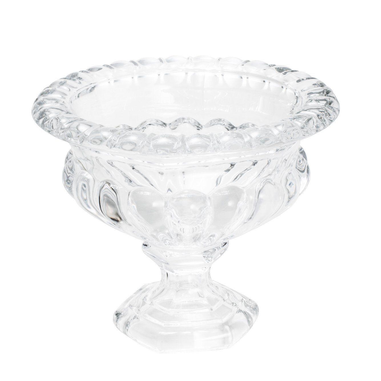 Centro de mesa 13,5 cm de cristal transparente com pé Sussex Wolff - 30234