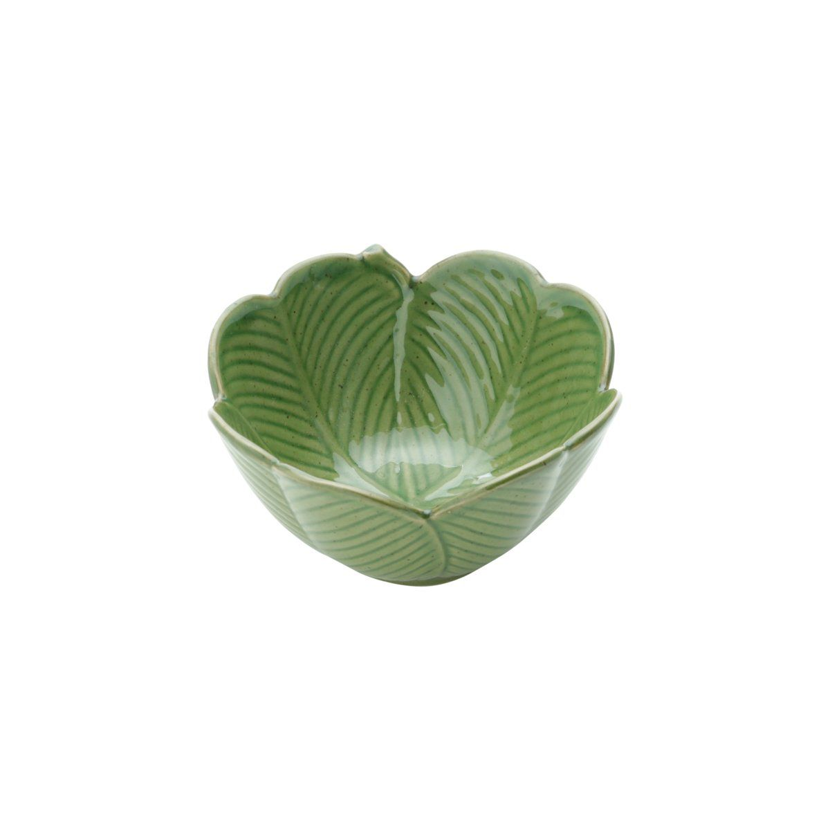 Centro de mesa decorativo 13 cm de cerâmica verde Banana Leaf Lyor - L4133