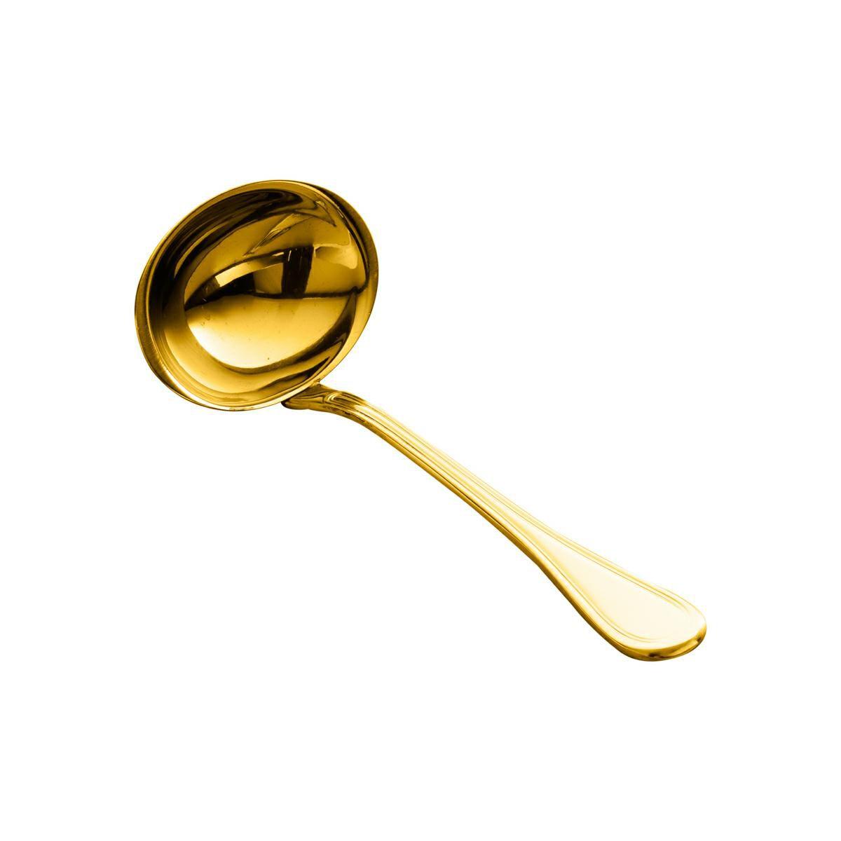 Concha para molho de aço inox PVD dourado Avalon Wolff - 71215