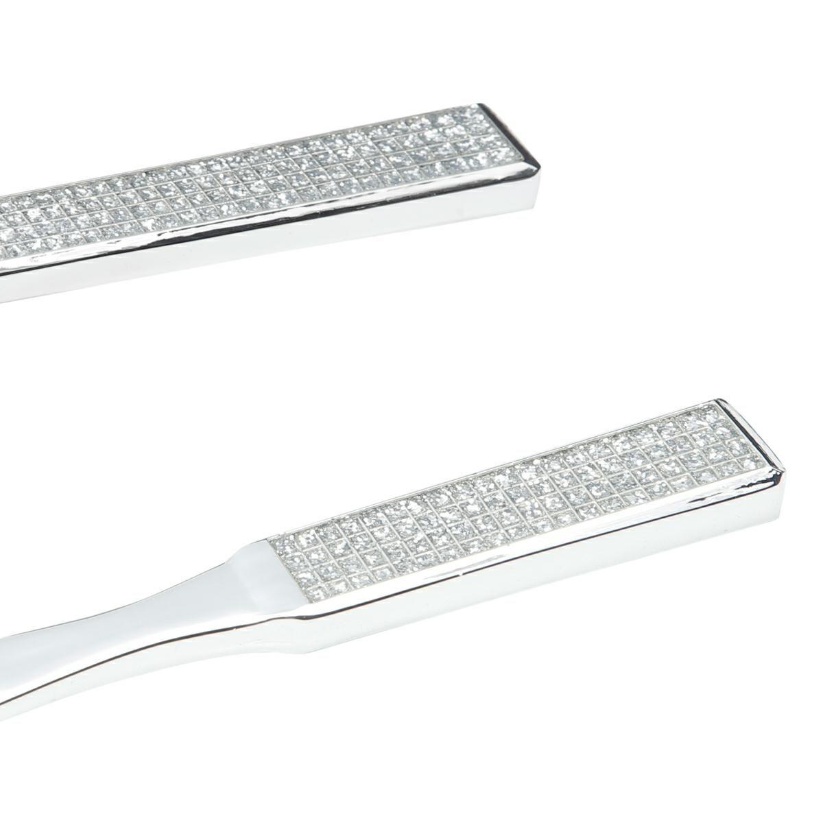 Conjunto Espátula e Pá 28 cm para bolo de zamac prateado Epóxy Prestige - 4740