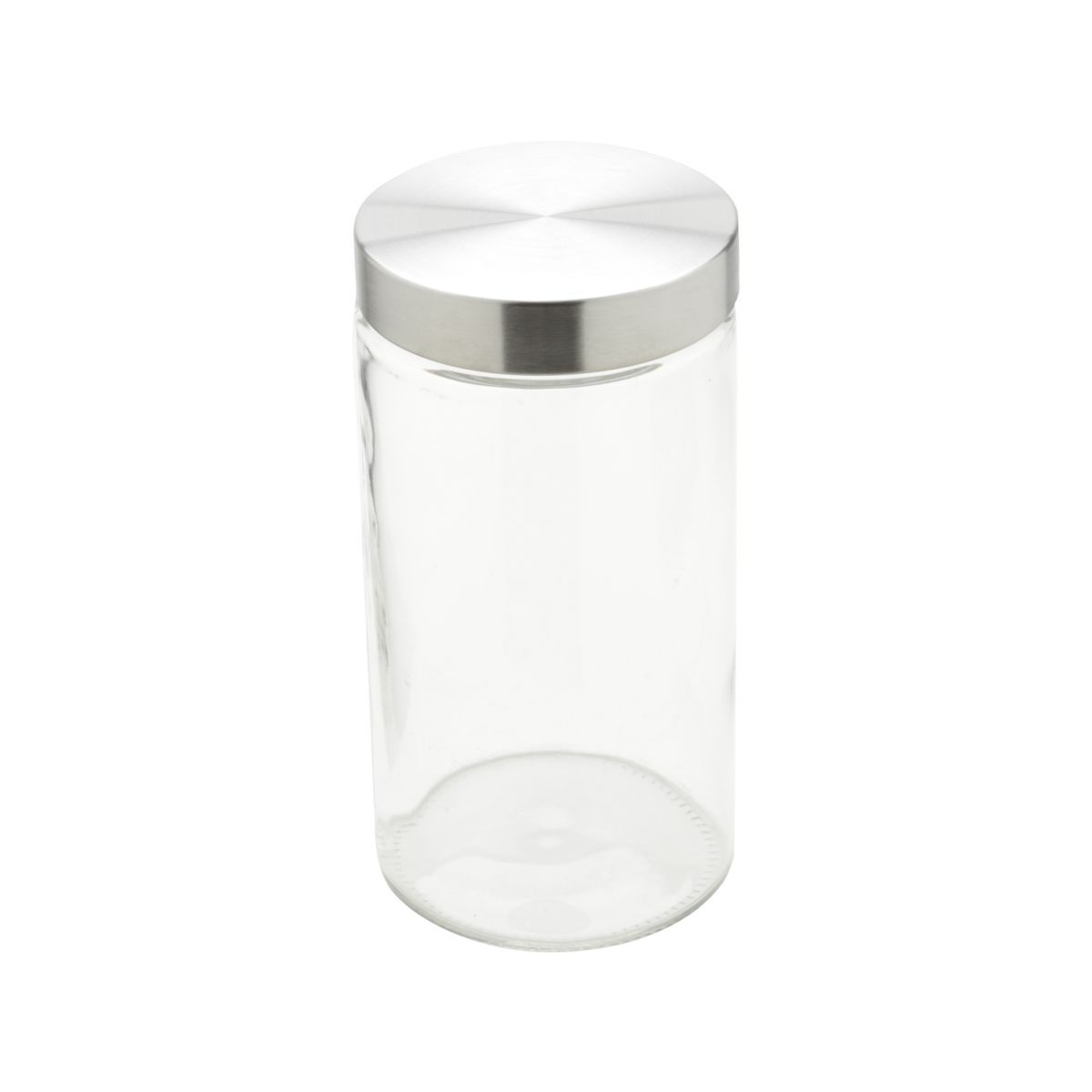 Conjunto 3 peças porta mantimento de vidro com tampa de aço inox base redonda Bon Gourmet - 26317