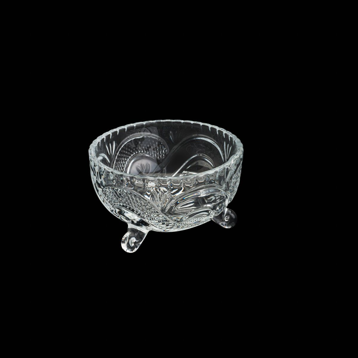 Conjunto 7 bowls para sobremesa de cristal transparente Glory Wolff - 26812
