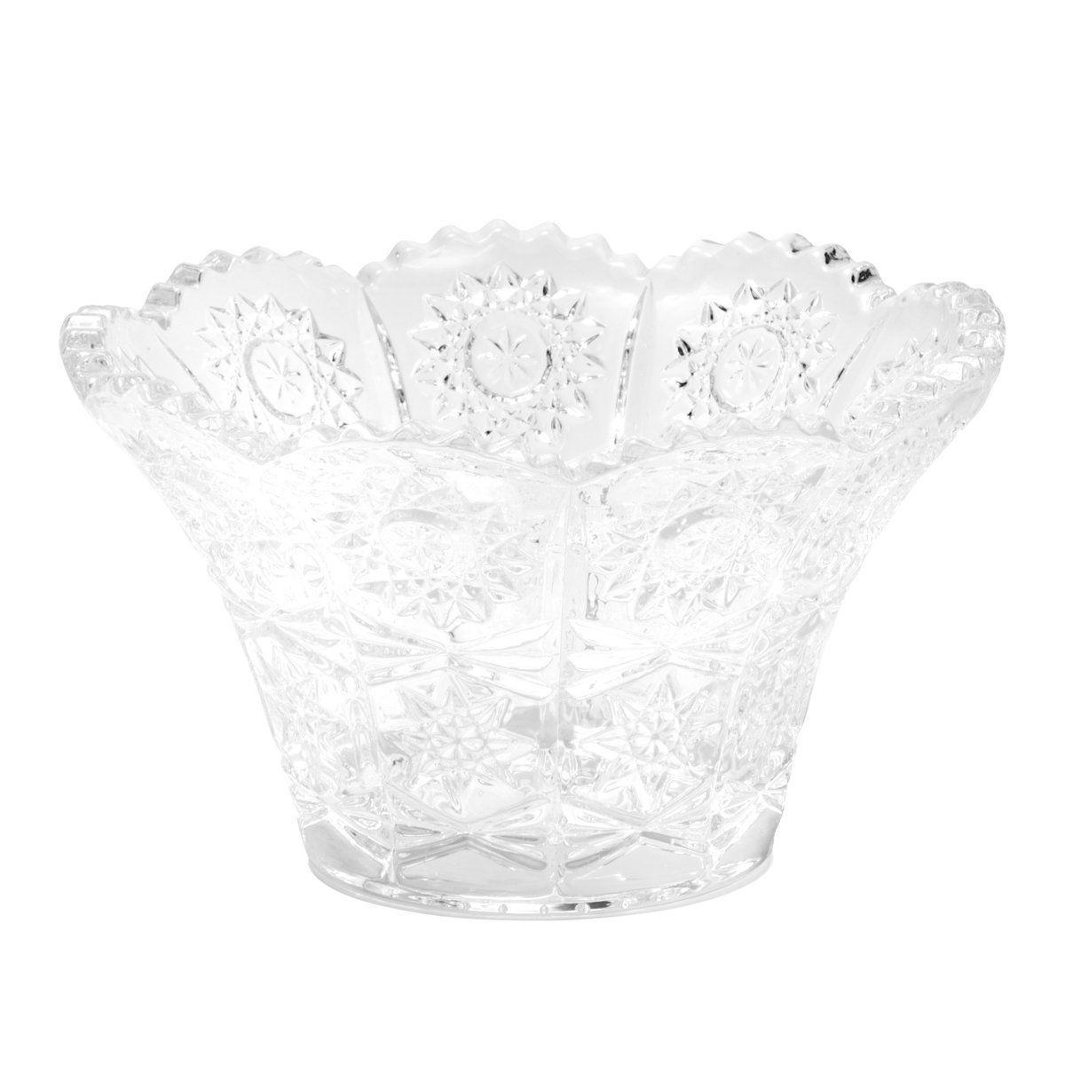 Jogo 6 bowls 12,5 cm para sobremesa de cristal transparente Starry Wolff - 25547