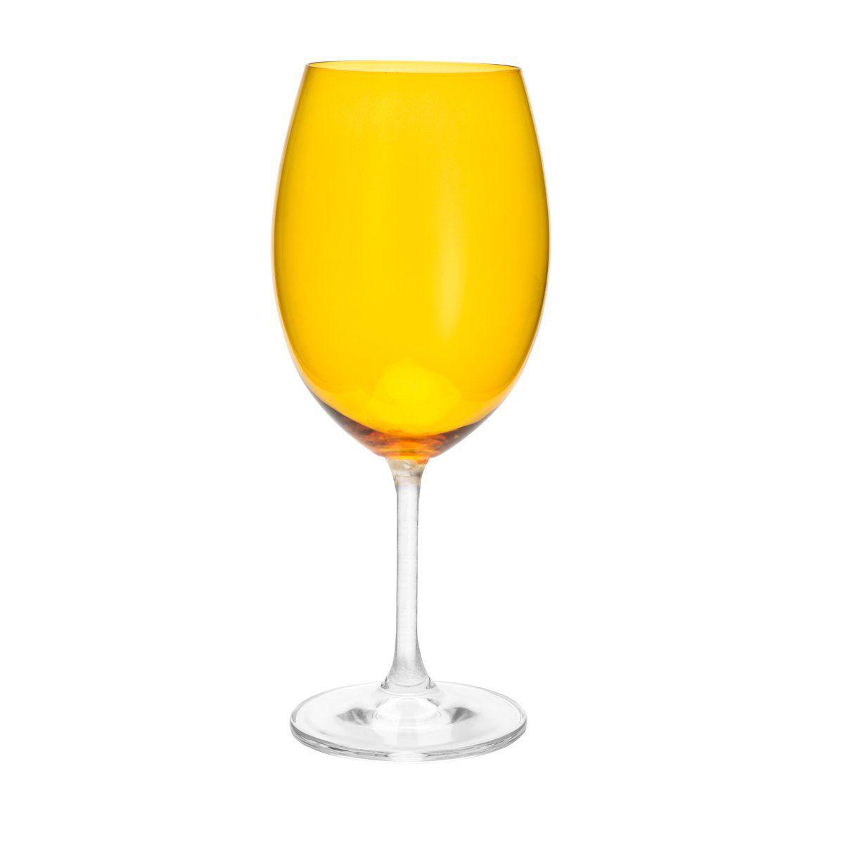 Jogo 6 taças 580ml para água de cristal ecológico âmbar Gastro/Colibri Bohemia - 35038