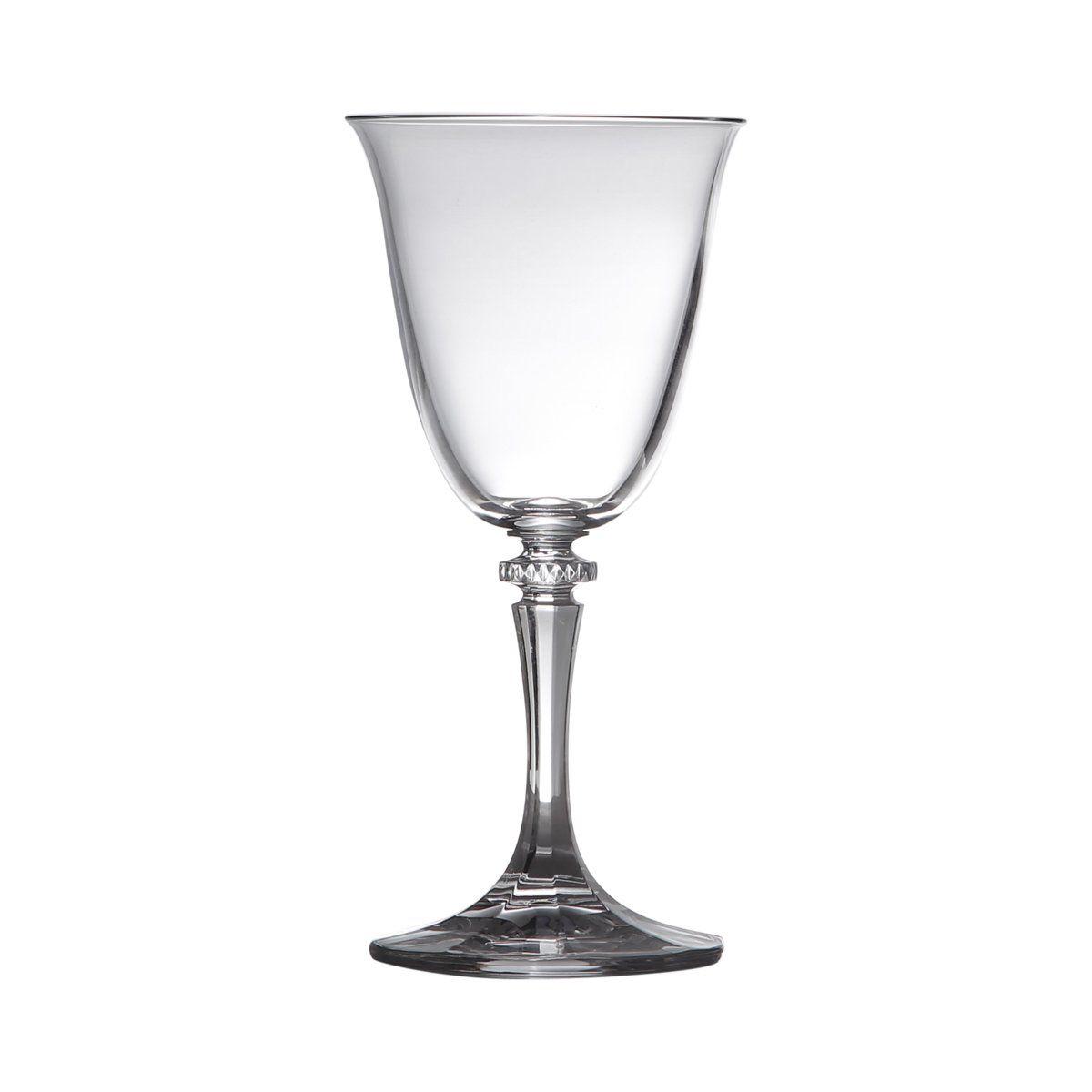 Jogo 6 taças 250ml para vinho branco de vidro transparente Kleopatra Bohemia - 5230