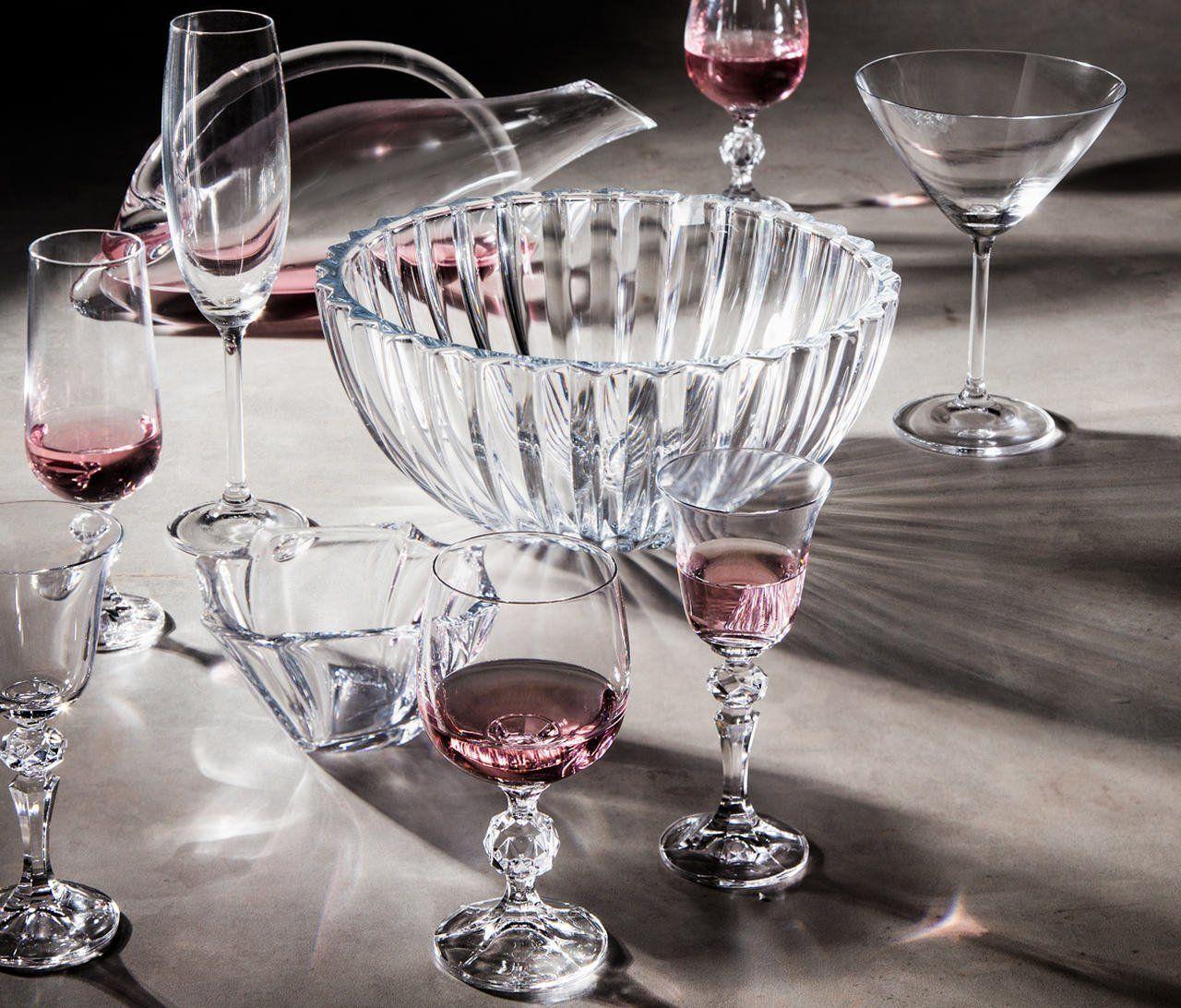 Jogo 6 taças 190ml para vinho branco de cristal ecológico transparente Klaudie/Sterna Bohemia - 5439