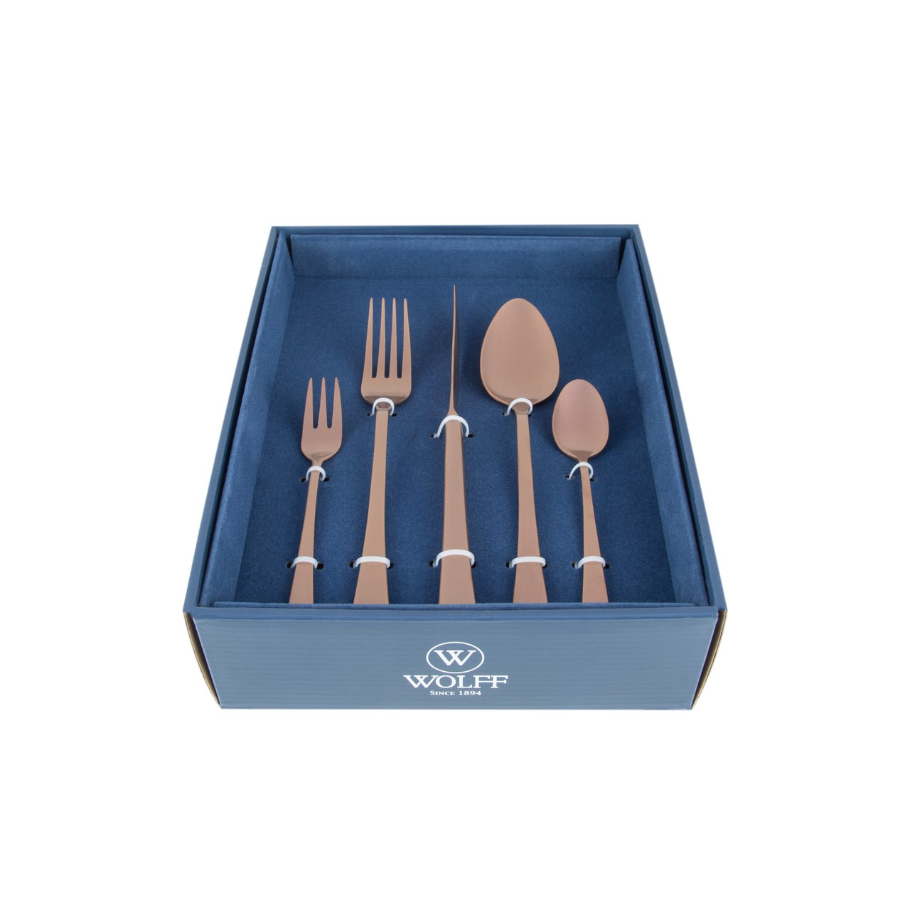 Faqueiro 30 peças de aço inox Rose fosco com Gift Box Berna Wolff - 71519