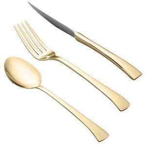 Faqueiro 30 peças de PVD dourado com estojo de madeira Berna Wolff - 71327