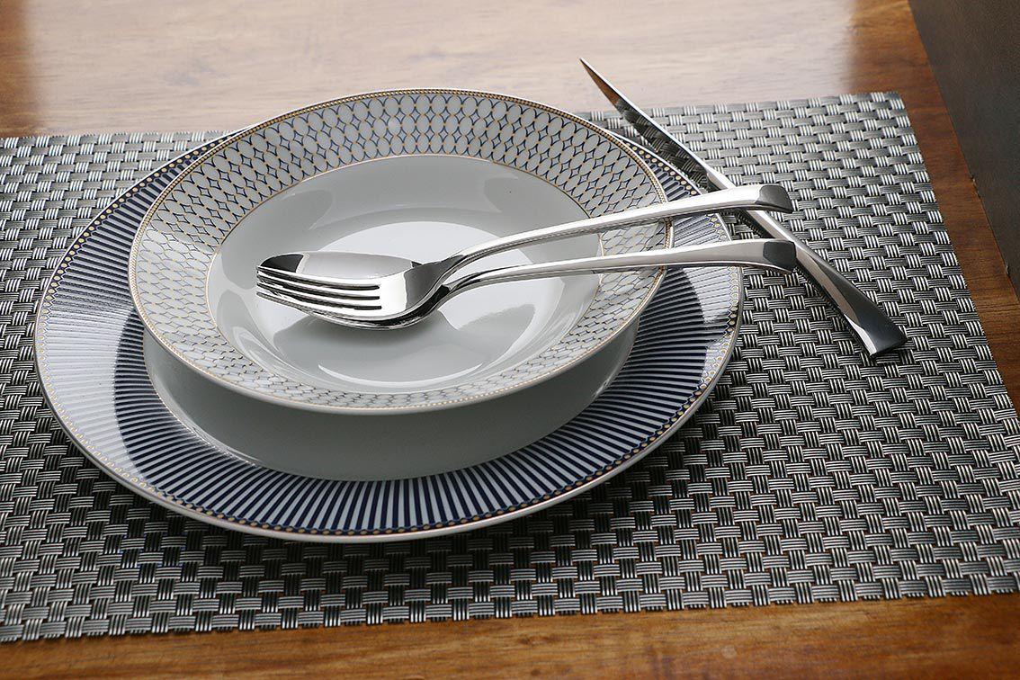 Faqueiro 48 peças de aço inox prateado com Gift Box Berna Wolff - 70001
