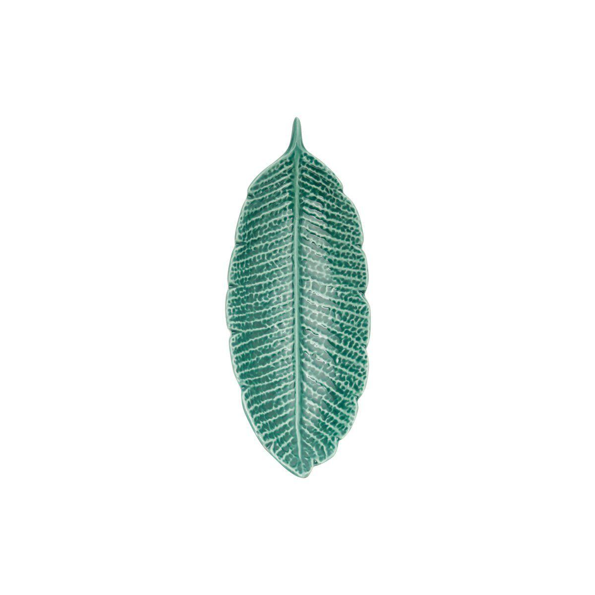 Folha decorativa 16 x 6,5 cm de porcelana verde Pachira Prestige - 26873