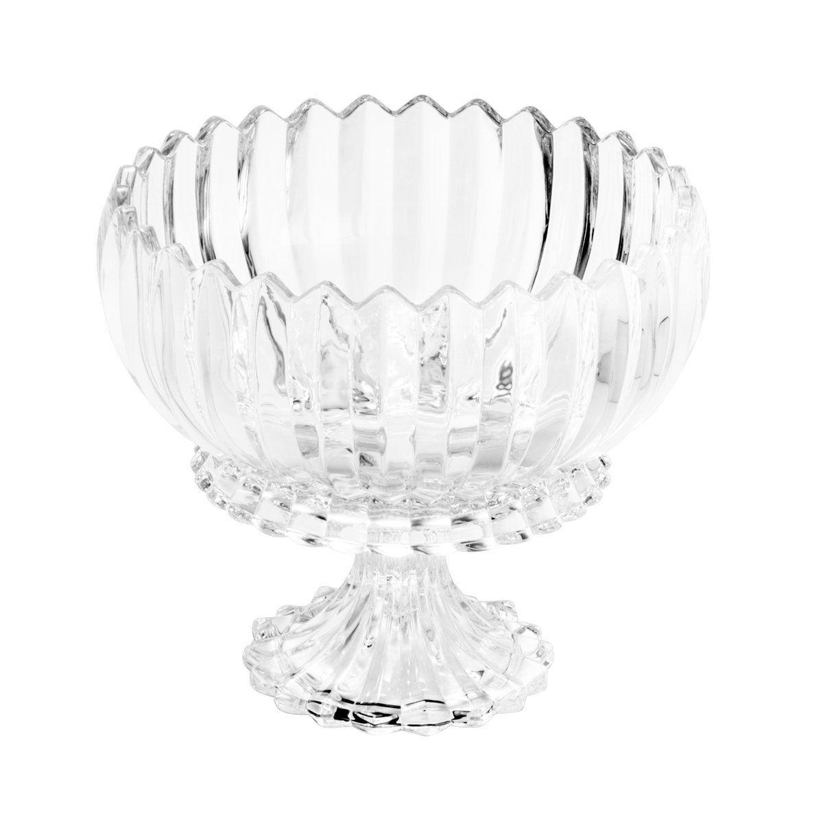 Fruteira 23,5 cm de cristal transparente com pé Geneva Wolff - 25528