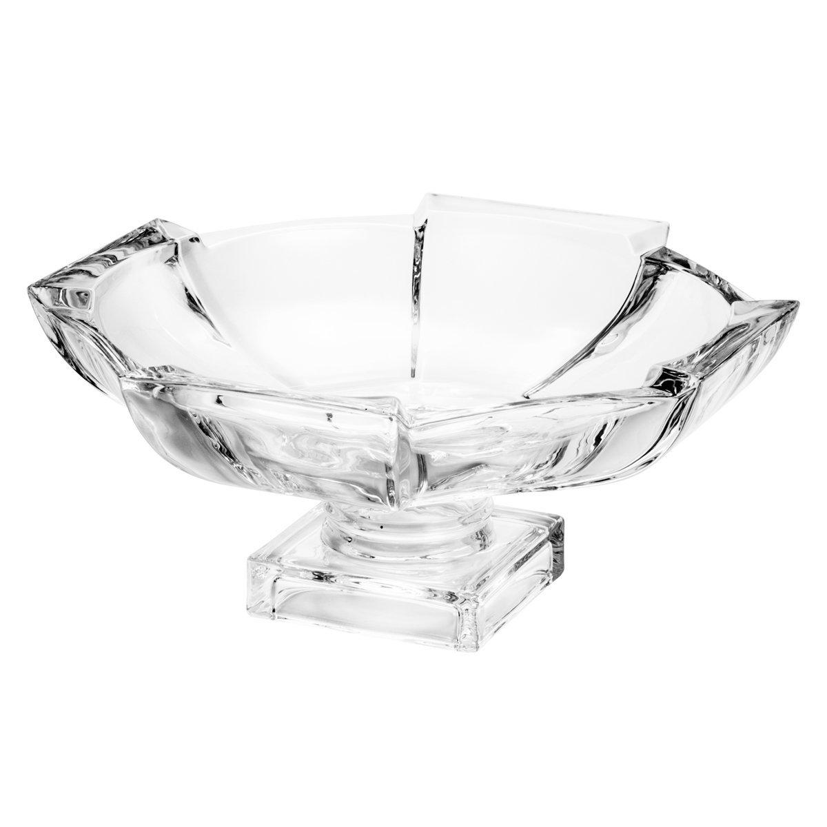 Fruteira 32 cm de cristal transparente com pé Stage Wolff - 25537