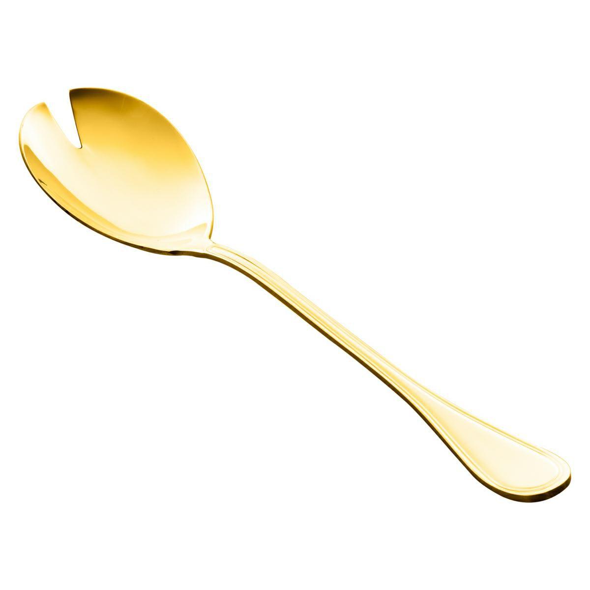 Garfo para salada de aço inox PVD dourado Avalon Wolff - 71213
