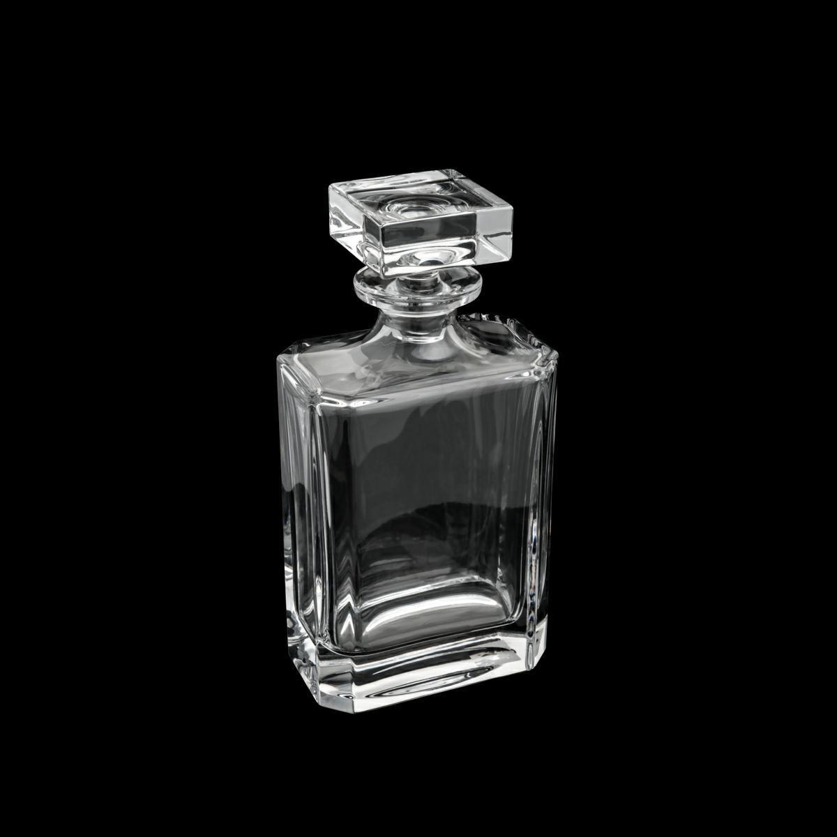 Garrafa 700ml para whisky de cristal transparente Blank Quadrado Bohemia - 35151