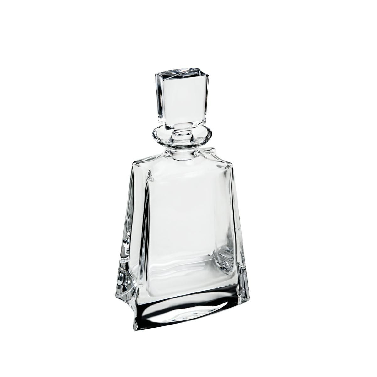 Garrafa 700ml para whisky de cristal transparente Kathrene Baixa Bohemia - 35148