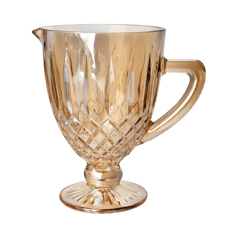 Jarra 1 litro de vidro âmbar bico de jaca Greek Bon Gourmet - 35437