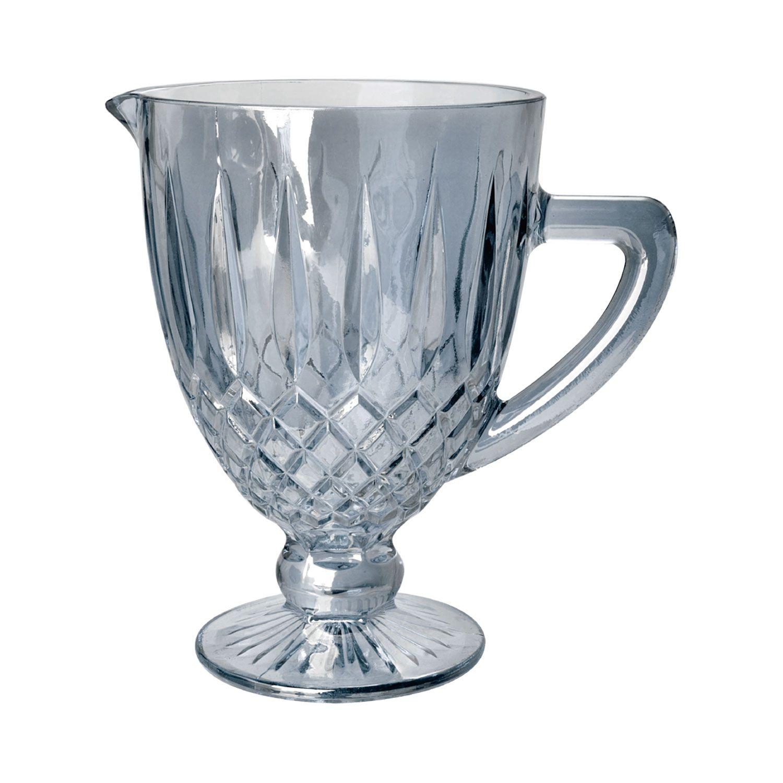 Jarra 1 litro de vidro cinza bico de jaca Greek Bon Gourmet - 35439