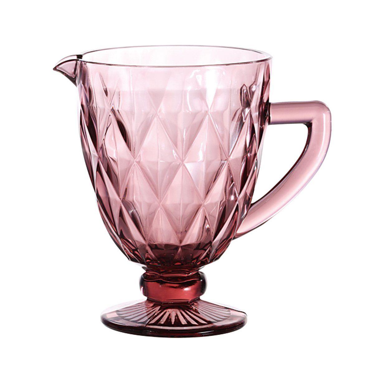 Jarra de 1 litro de vidro lilás Diamond Lyor - L6471