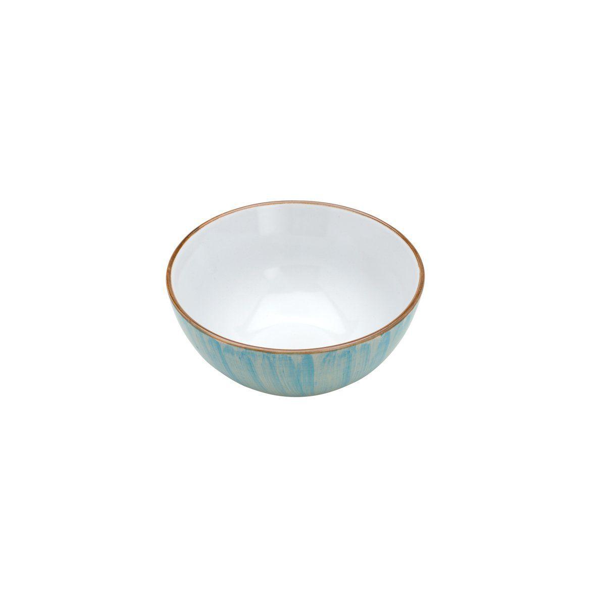 Jogo 2 bowls 14 cm para sobremesa de porcelana azul Watercolor Bon Gourmet - 26495